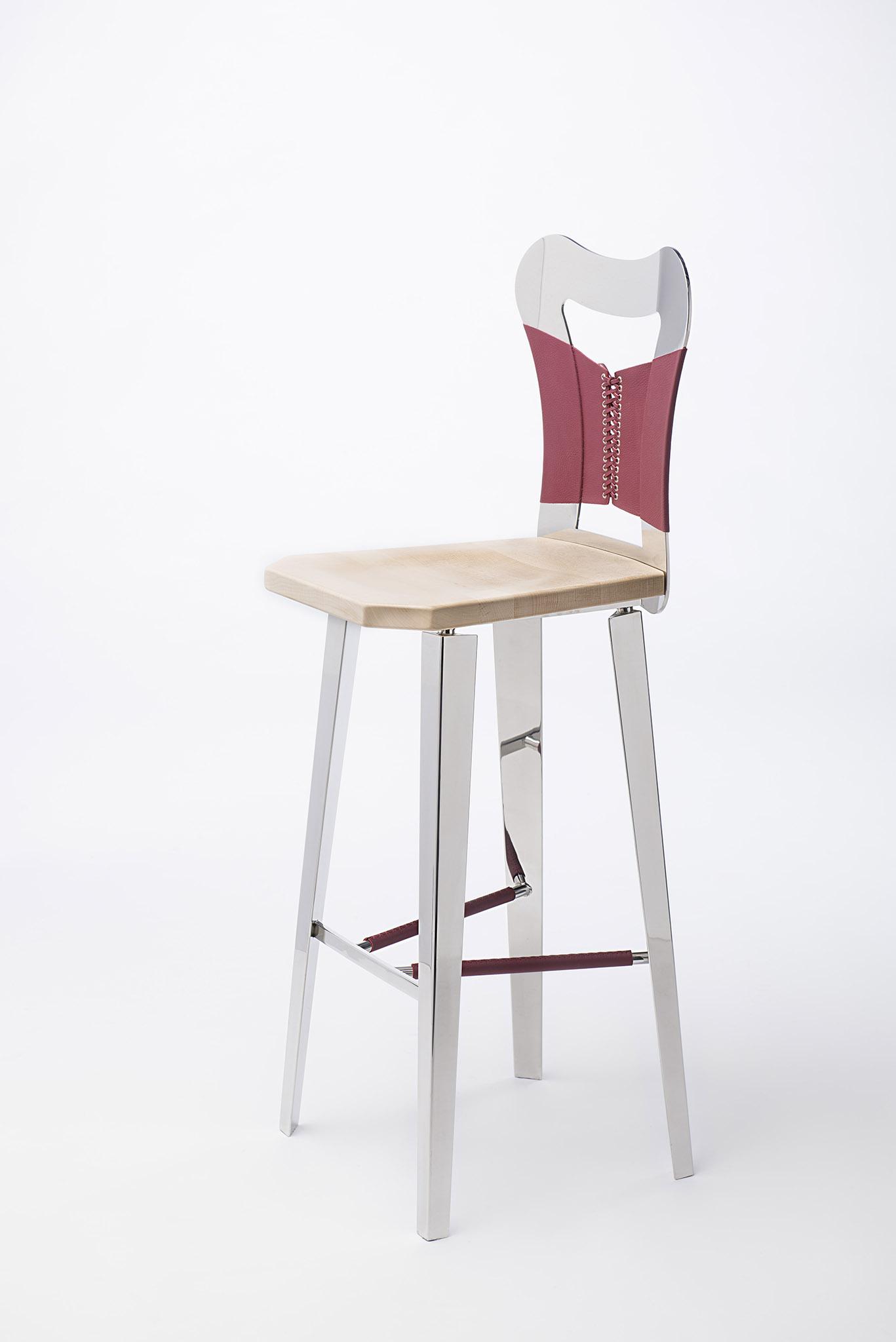 chaise design inox