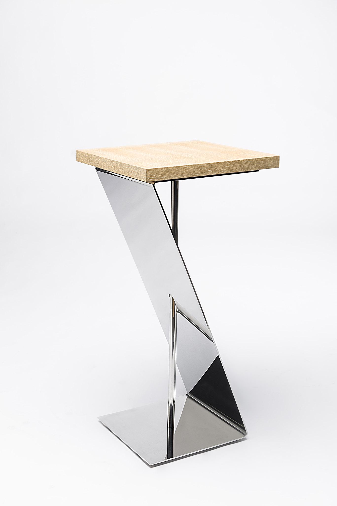 mobilier inox design poli miroir