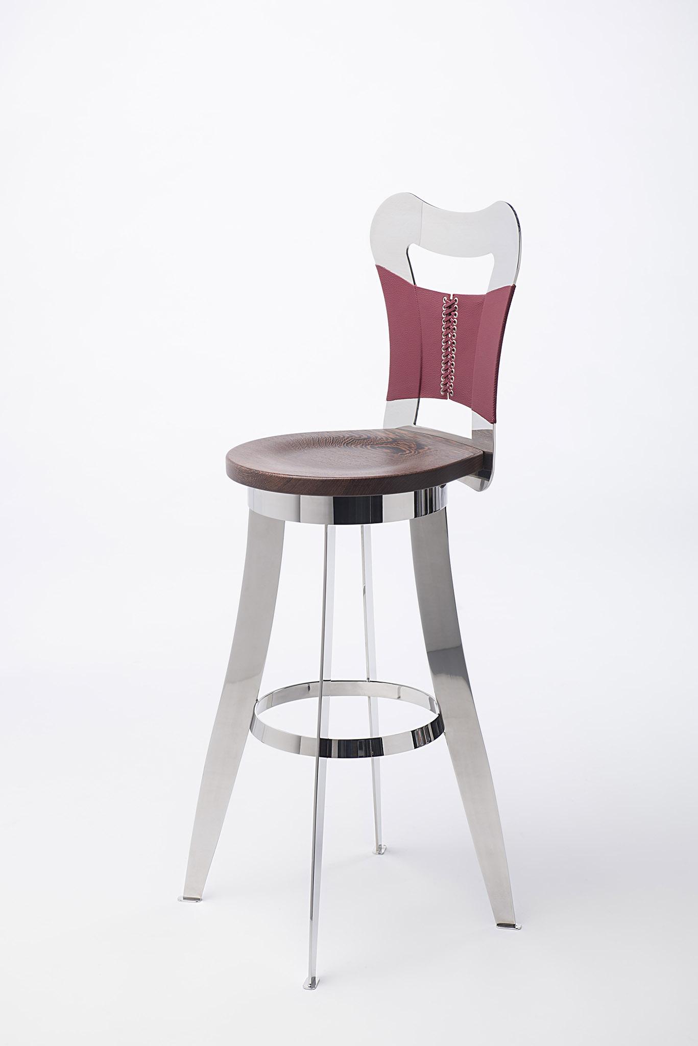 chaise inox design Francaise